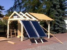Obsah setu samotížného solárního systému: solární bojler 120 - 300 l solární panely Immo Logis GSS 200, Apollon Al 12 2000 expanzní nádoba nosná konstrukce drobný instalatérský materiál