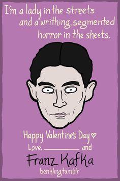 Ben Kling — Hey NERDS, this year's Portrait Valentines are...Franz Kafka