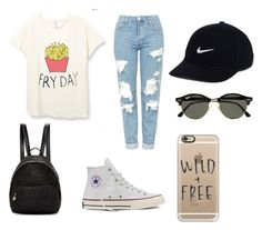 """""""School"""" by egloomis on Polyvore featuring Topshop, STELLA McCARTNEY, NIKE, Ray-Ban, Converse and Casetify"""