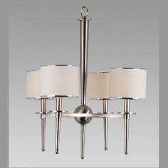 Chandelier CC331/4 BN Collection : COVINGTON By : AMLITE Couleur : BRUSHED SILVER Order in store Order online On order 14 to 21 days $285.00 multi