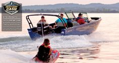 Grab a wakeboard or a fishing pole and hop on the versatile 2020 Lowe FS Ready for water sports fun or fishing action. Deck Boats For Sale, Fishing Boats For Sale, Small Fishing Boats, Aluminum Jon Boats, Aluminum Fishing Boats, Lowe Boats, Sport Boats, Pontoon Boat, Wakeboarding