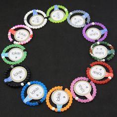Lokai 12 Color Bracelet Mud  Dead Sea, water MT Everest Silicone SZ S, M, L ,XL