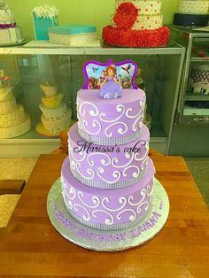 Sophia the first birthday cake. Visit us Facebook.com/marissa'scake or www.marissascake.com