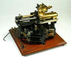 Edison wax cylinder recorder