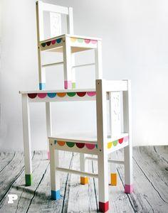 Decoración de sillas y mesas para niños