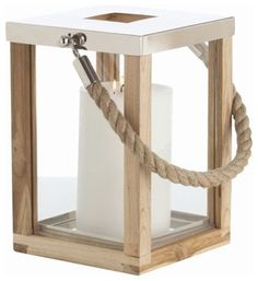 nautical wooden candle holder