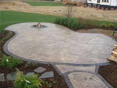 Fabulous Stamped Concrete Patio Pictures For Interior Home Design . Colored Concrete Patio, Diy Concrete Patio, Concrete Patio Designs, Stamped Concrete, Diy Patio, Concrete Stamping, Concrete Lamp, Small Backyard Patio, Backyard Patio Designs