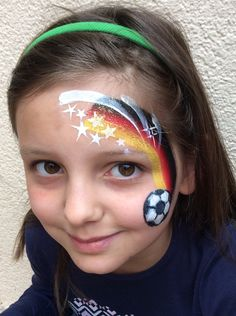 The Mini-EM of the LKZ in Ludwigsburg on May 2016 and on May and 2016 . - For the Mini-EM of the LKZ in Ludwigsburg on May 2016 and on May and the mak - Face Painting Tips, Face Painting For Boys, Bodysuit Tattoos, Football Face Paint, Easy Face Painting Designs, Face Paint Party, Initial Tattoo, Pretty Tattoos, Girl Face