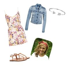 """Flower power"" by swimmergurl1234 ❤ liked on Polyvore featuring River Island, VILA, Yves Saint Laurent and Bling Jewelry"