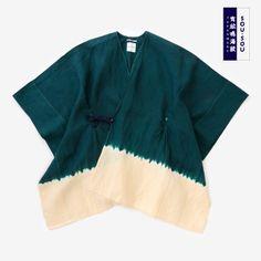 Kisaragi Poncho Linen ArimatsuTie Dye Matcha Green : SOU • SOU US Online Store