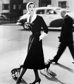 darksilenceinsuburbia:    Barbara Mullen with Dogs, New York 1952 by Norman Parkinson