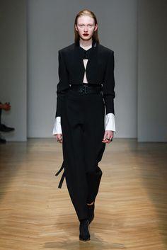 Police woman look for first look of FallWinter 2017-18 AquilanoRimondi fashion show.