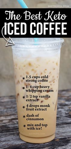 Helado Keto, Keto Coffee Recipe, Starbucks Iced Coffee Recipe Easy, Mct Oil Coffee Recipe, Easy Ice Coffee Recipe, Starbucks Smoothie, Starbucks Order, Iced Coffee Protein Shake Recipe, Starbucks Coffee