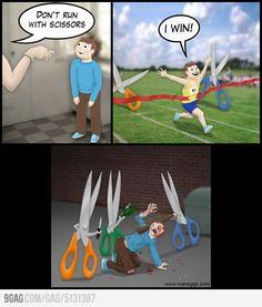 Don't run with scissors