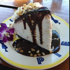 Hula Pie! It's a MUST splurge on your diet while in Hawaii!!! I got mine at Dukes on Ka'anapali beach on Maui. Simply the best thing you will ever put in your mouth! Email me when you're ready to plan your trip to Hawaii and I will share more of my favorite restaurants with you! Luxury Virtuoso travel advisor- julie@awtinc.com