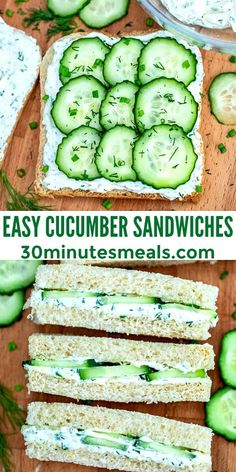 Cucumber Recipes, Veggie Recipes, Vegetarian Recipes, Cooking Recipes, Healthy Recipes, Fun Sandwich Recipes, Cucumber Bread Recipe, Recipes For Cucumbers, Brunch Recipes