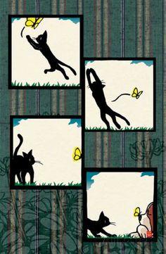Ryo Takagi  - Cat and Butterfly