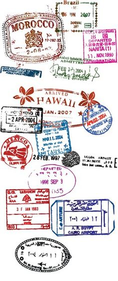 Lovely Travel stamps