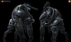 Nodeworld Bull, Darren Bartley on ArtStation at http://www.artstation.com/artwork/nodeworld-bull