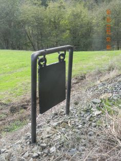 "10"" x 10"" x 1/2"" Mild Steel Swinging Gong Target for Shotgun and Handgun."