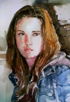 Bella Swan (Watercolors) - Painting by Kashish Rabbani in Portraits By Kash! at touchtalent 71183