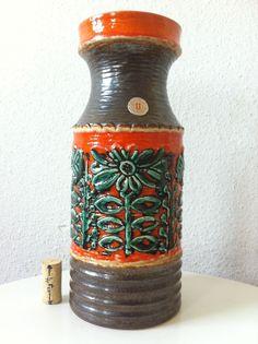 Ü Keramik Uebelacker 30cm Keramik Vase pop 60er 70er panton 60s jopeko lava ära  | eBay