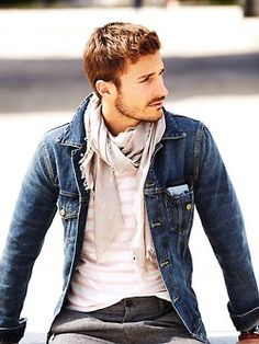 Modern Dapper, variations on this layered look works well for men who are on the slim side, regardless of age.