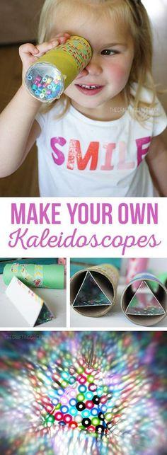 Make Your Own Kaleidoscopes - DIY Kaleidoscopes are such a fun kids craft! #diy_basteln_kids
