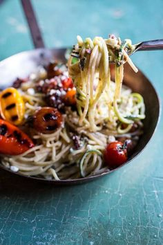 20-Minute-Mediterranean-Hummus-Noodles-with-Blistered-Cherry-Tomatoes-7.jpg (600×900)
