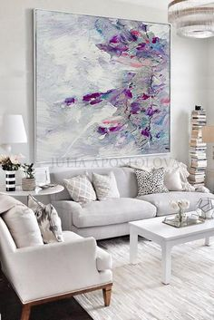 Large Abstract Flower Oil Painting, Floral art canvas painting, hand painted white rose painting on canvas. Oil Painting Flowers, Abstract Flowers, Oil Painting On Canvas, Abstract Art, Canvas Art, Painting Art, Art Paintings, Painting Classes, Painting Doors