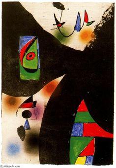 Joan Miro >> Maqueta núm. 2 de la sèrie Gaudí  |  (oleo, obra de arte, reproducción, copia, pintura).