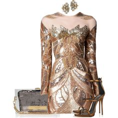 Untitled #3047 by stylebydnicole on Polyvore featuring Giuseppe Zanotti, Kurt Geiger, Anton Heunis and Zuhair Murad