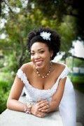 noiva negra com cabelo afro natural