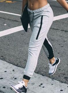 super popular 668e3 d8ade Casual Zipper Decoration Color Block Sports Pants