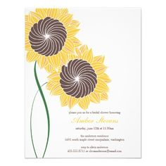 ShoppingSunflowers Shower/Party InvitationThis site is will advise you where to buy