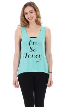 I'm So Fancy Mint Low Back Tank by FavebyVfish on Etsy, $32.90