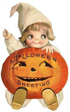 kid jack-o-lantern halloween clip art Retro Halloween, Vintage Halloween Images, Halloween Clipart, Halloween Drawings, Halloween Pictures, Halloween Crafts, Happy Halloween, Snoopy Halloween, Halloween Costumes