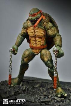Michelangelo Teenage Mutant Ninja Turtle (Teenage Mutant Ninja Turtles) Custom Action Figure