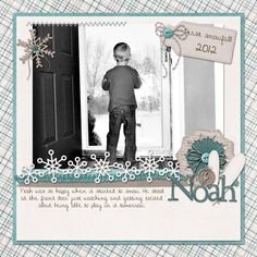 LO idea {Memories & Moments Winter}  digital kit from SuzyQ Scraps - scrapbooking layout by shannon