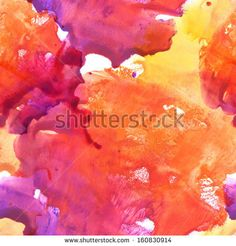 Seamless pattern. Abstract watercolor hand painted background by Elena Terletskaya, via Shutterstock