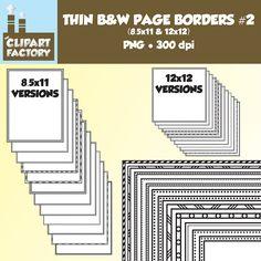 Clip Art: Thin Borders and Frames 2 24 Fun page borders | Etsy Doodle Borders, Page Borders, Borders And Frames, Decorative Borders, Shipping Supplies, Design 24, Border Design, Etsy Store