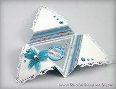 Felicitare Crăciun Stea / Christmas TriStar Card Cards, Tableware, Projects, Christmas, Decor, Log Projects, Xmas, Dinnerware, Blue Prints