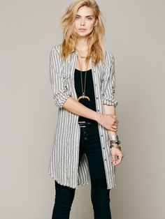 Free People Between The Lines Buttondown, $98.00