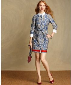 Three-quarter sleeve Shirtdress  Tommy Hilfiger