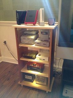 Video Gaming Console Shelves - Entertainment Center via NintendoAge user wiggyx