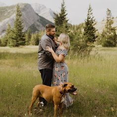 Engagement Photos at Lundbreck Falls in Crowsnest Pass with the couples' dogs in the pictures. Photos by Havilah Heger Photography Banff National Park, National Parks, Engagement Shoots, Wedding Engagement, My Favorite Part, How Beautiful, I Love Dogs, Hanging Out, Big Day
