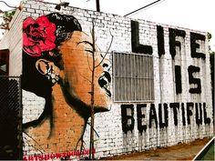 Street Art-love her voice!