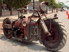 Tractorcycle ~ Motorcycle made from Tractor Parts