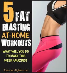 5 Amazing fat-blasting workouts right when you need them the most - in the thick of the holiday season! Get them today on Tone-and-Tighten.com