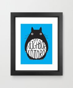 Totoro Framed Print - Totoro and Company Collection - Dot & Bo